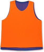 Манишка футбольная Спортивные мастерские SM-370 (XL, оранжевый/синий) -