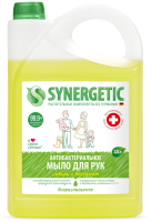 Мыло жидкое Synergetic Антибактериальное увлажняющее д/мытья рук и имбирь и бергамот (3,5л) -