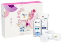 Набор косметики для лица Dove мицеллярная вода+крем-гель для умывания+повязка для волос (240мл+120мл) -