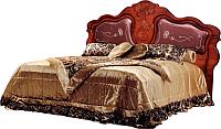 Двуспальная кровать Мебель-КМК 1600 Мелани 2 0434.6-02.1 (орех донской/орех экко) -