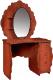 Туалетный столик с зеркалом Мебель-КМК Мелани 2 0434.10-02 (орех донской/орех экко) -