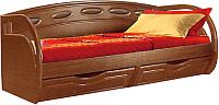 Кровать-тахта Мебель-КМК М 800 0320.11 (орех донской/орех) -