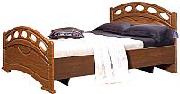 Полуторная кровать Мебель-КМК М 1400 0320.13 (орех донской/орех) -