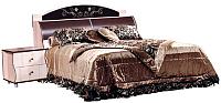 Двуспальная кровать Мебель-КМК Магия 1600 0363.7 (дуб шамони/орех шоколад) -