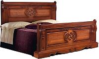 Двуспальная кровать Мебель-КМК 1600 Амелия 0435.13 (орех экко) -