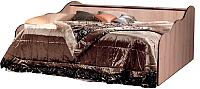 Кровать-тахта Мебель-КМК 900-01 Магия 0357 (дуб шамони/орех шоколад) -