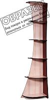 Стеллаж Мебель-КМК Трапеция 0319.9-01 (дуб шамони/орех шоколад) -