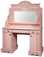 Туалетный столик с зеркалом Мебель-КМК Амелия 0435.16 (дуб молочный) -