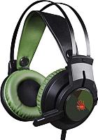 Наушники-гарнитура A4Tech Bloody J450 (черный/зеленый) -