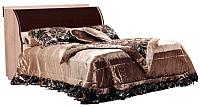 Полуторная кровать Мебель-КМК 1200 Магия 0401 (дуб шамони/орех шоколад) -