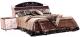 Полуторная кровать Мебель-КМК 1400 Магия 0400 (дуб шамони/орех шоколад) -