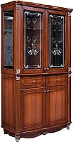 Шкаф с витриной Мебель-КМК Баккара 0441.4 (орех экко) -