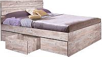Двуспальная кровать Мебель-КМК 1600 Лондон 2 0478.4 (дуб юккон) -
