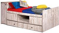 Односпальная кровать Мебель-КМК 1Д4Я Лондон 2 0478.6 (дуб юккон) -