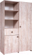 Шкаф Мебель-КМК 2Д1Я Лондон 2 0478.12 (дуб юккон) -