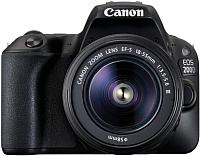 Зеркальный фотоаппарат Canon EOS 200D Kit 18-55mm DC III / 2250C014AA (черный) -