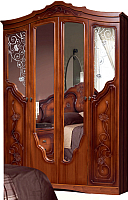 Шкаф Мебель-КМК 4Д Мелани 2 0434.1-02 (орех донской/орех экко) -