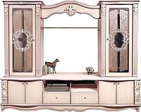 Стенка Мебель-КМК Версаль 0436.1 (дуб молочный) -