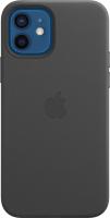 Чехол-накладка Apple Leather Case With MagSafe для iPhone 12/12Pro / MHKG3 (черный) -