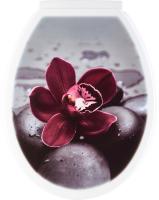 Сиденье для унитаза KaroPlast Uni Черная орхидея -