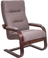 Кресло мягкое Импэкс Leset Оскар (орех текстура/Milos 20/коричневый) -