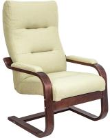 Кресло мягкое Импэкс Leset Оскар (орех текстура/Melva 33/зеленый) -
