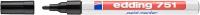 Маркер перманентный Edding 751 e-751-1 (черный) -