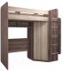 Кровать-чердак детская Комфорт-S Доминик New М15 с угловым шкафом (ясень шимо светлый/ясень шимо темный) -