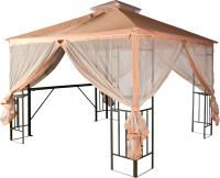 Беседка Удачная мебель Анталья с барной стойкой и антимоскитной сеткой -