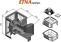 Печь-каменка Этна Магма 18 (Панорама) -