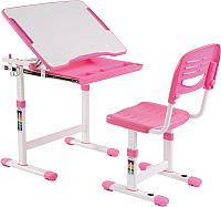 Парта+стул Растущая мебель Smart Elfin B201 (розовый) -