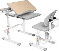 Парта+стул Растущая мебель Smart С502 (серый) -