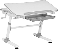 Парта Растущая мебель Smart E501 (белый/серый декор) -