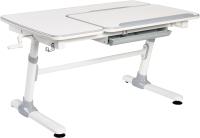 Парта Растущая мебель Smart E502 (белый/серый декор) -