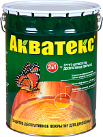 Защитно-декоративный состав Акватекс 3л (белый) -