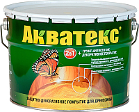 Защитно-декоративный состав Акватекс 10л (груша) -