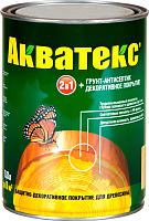 Защитно-декоративный состав Акватекс 800мл (рябина) -