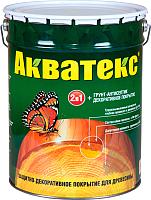 Защитно-декоративный состав Акватекс 3л (рябина) -