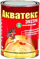 Защитно-декоративный состав Акватекс Экстра (800мл, белый) -