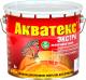 Защитно-декоративный состав Акватекс Экстра (3л, белый) -