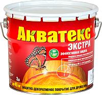 Защитно-декоративный состав Акватекс Экстра (3л, груша) -