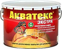 Защитно-декоративный состав Акватекс Экстра (10л, красное дерево) -