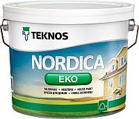 Краска Teknos Nordica Eko House Paint Base 1 (9л) -