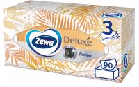 Бумажные салфетки Zewa Deluxe Design 3-х слойные (90шт) -