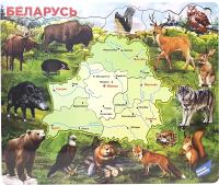 Пазл Мастер Вуд Деревянный пазл. Карта Беларуси / DKB -