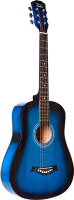 Акустическая гитара Fante FT-R38B-BLS (синий санберст) -