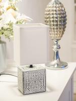 Прикроватная лампа Лючия Пьемонт 505 (бело-черный/белый) -