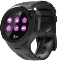 Умные часы детские Elari KidPhone 4GR / KP-4GR (черный) -