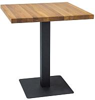 Обеденный стол Signal Puro 80 (дуб натуральный/черный) -