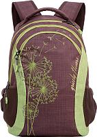 Школьный рюкзак Grizzly RD-636-1 (коричневый/салатовый) -